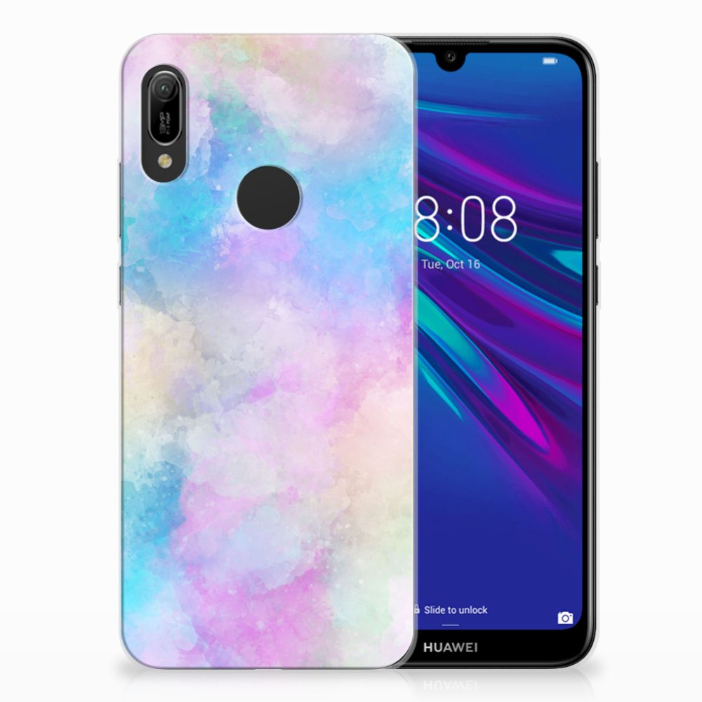 Huawei Y6 2019 | Y6 Pro 2019 Uniek TPU Hoesje Watercolor Light