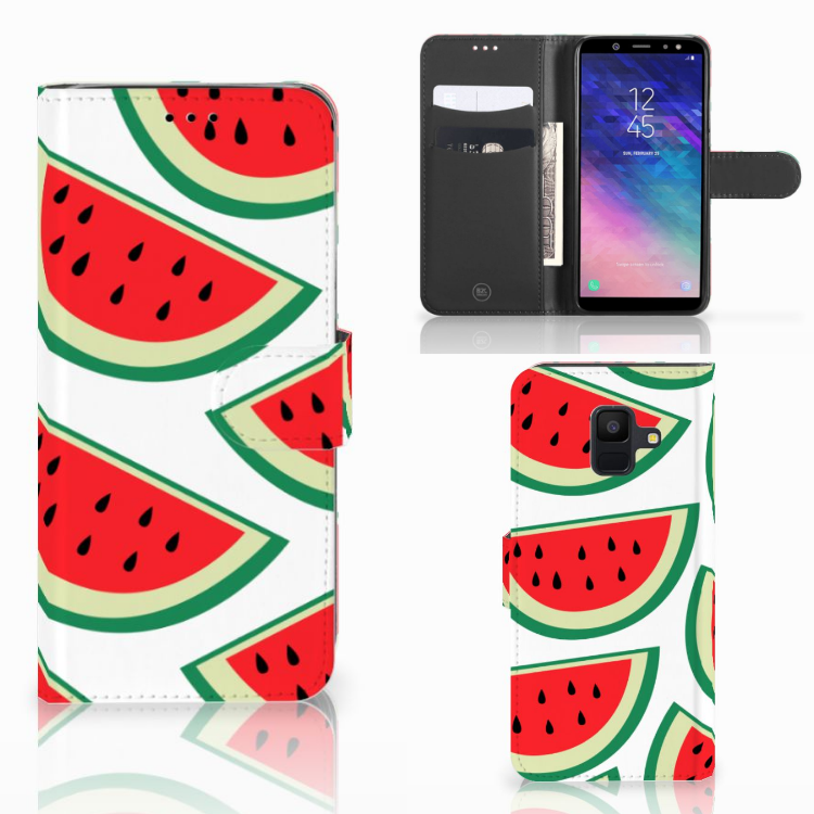 Samsung Galaxy A6 2018 Book Cover Watermelons