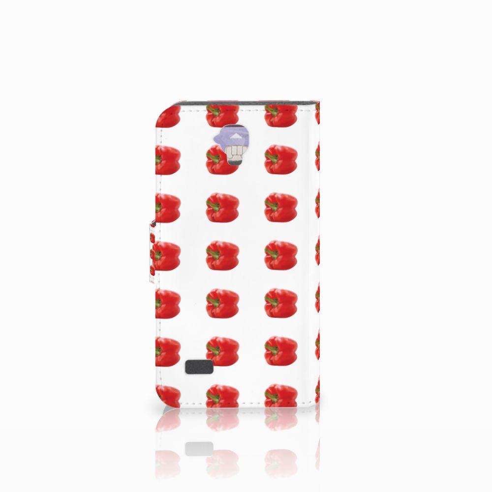 Huawei Y5 Y560 Book Cover Paprika Red