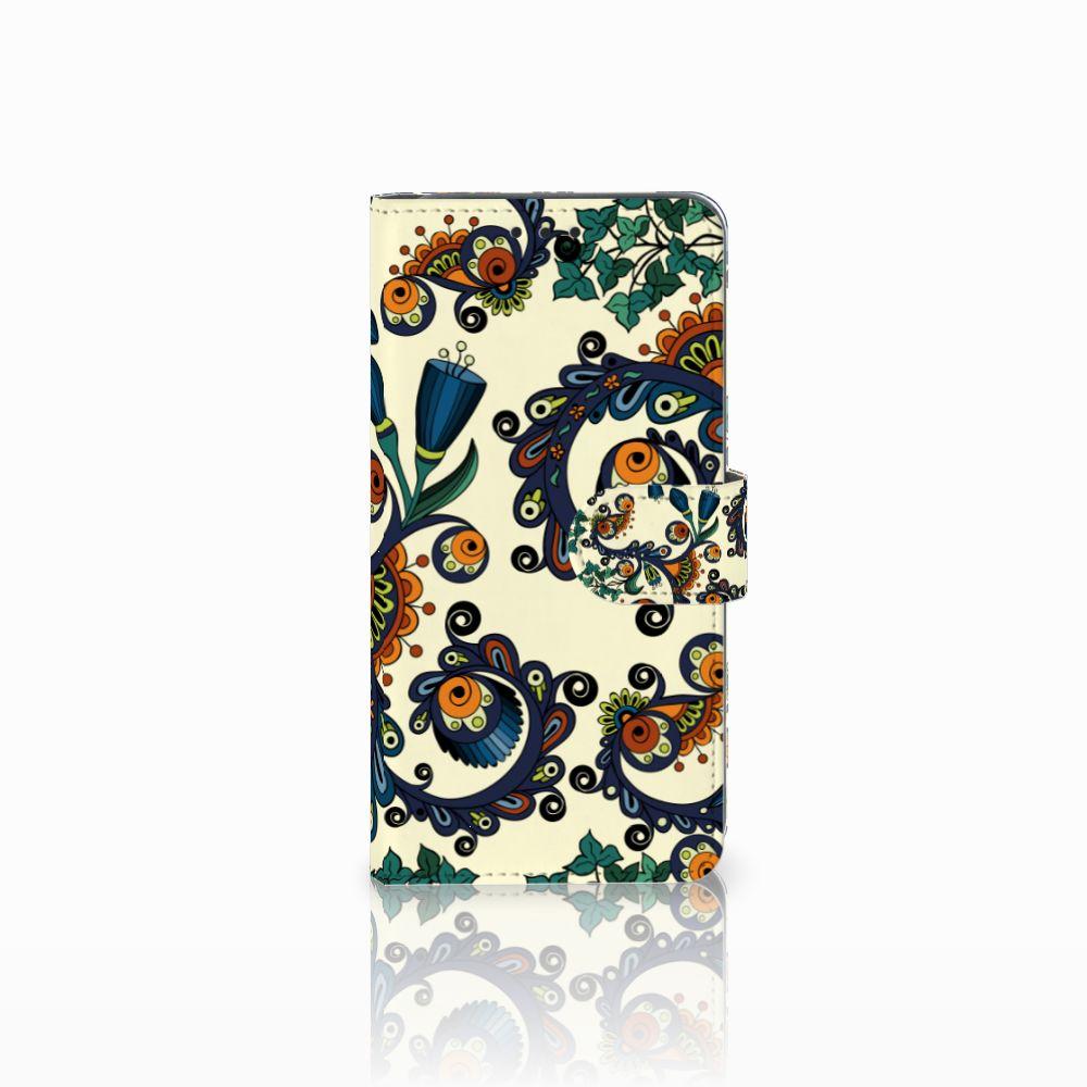 Samsung Galaxy A8 2018 Boekhoesje Design Barok Flower
