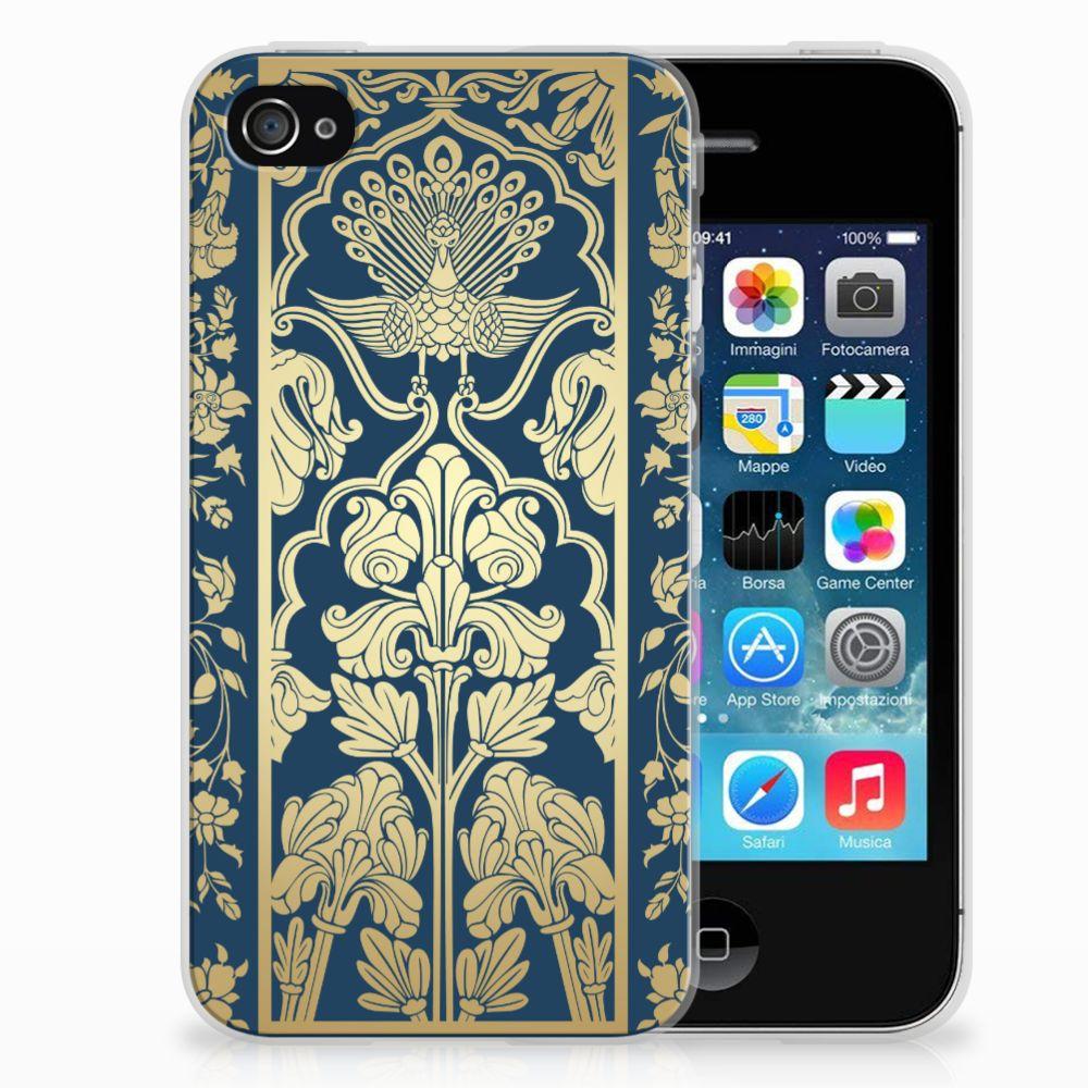 Apple iPhone 4 | 4s Uniek TPU Hoesje Golden Flowers