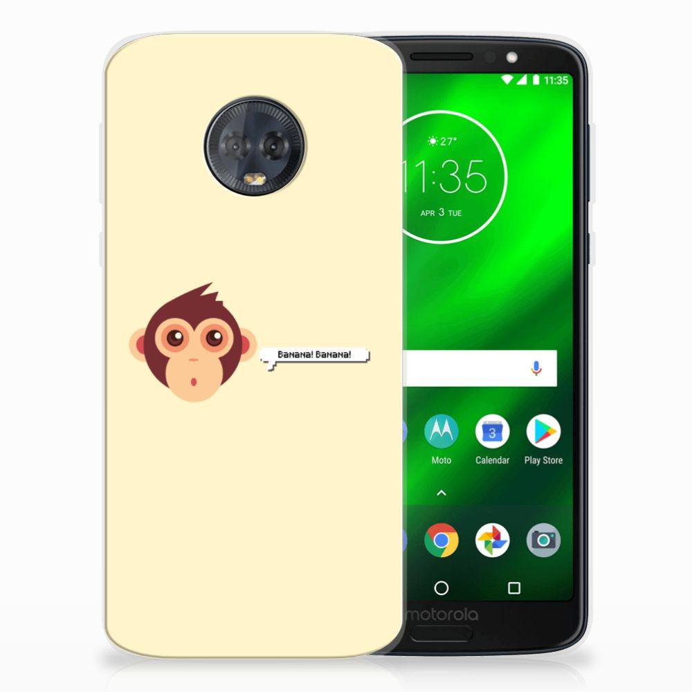 Motorola Moto G6 Plus Uniek TPU Hoesje Monkey