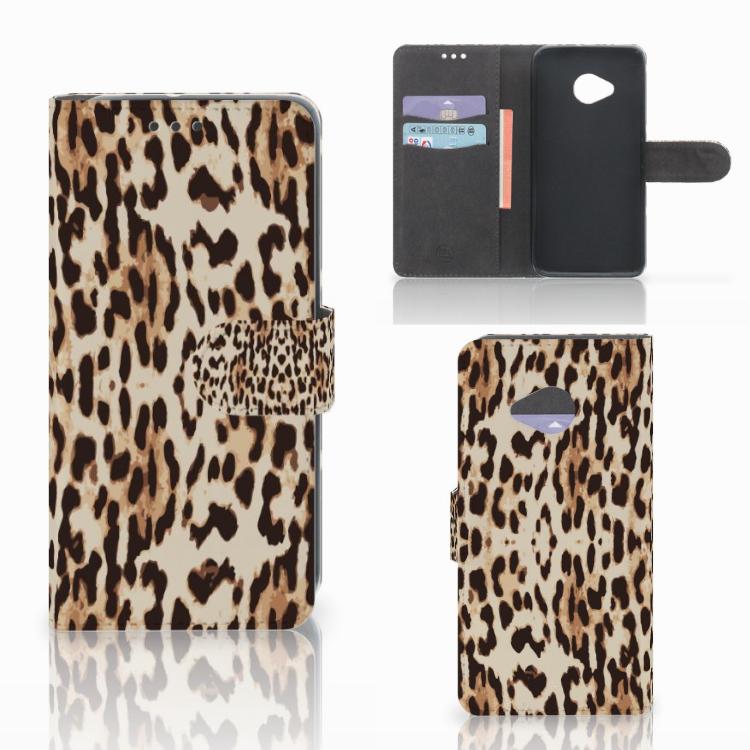 HTC U11 Life Telefoonhoesje met Pasjes Leopard
