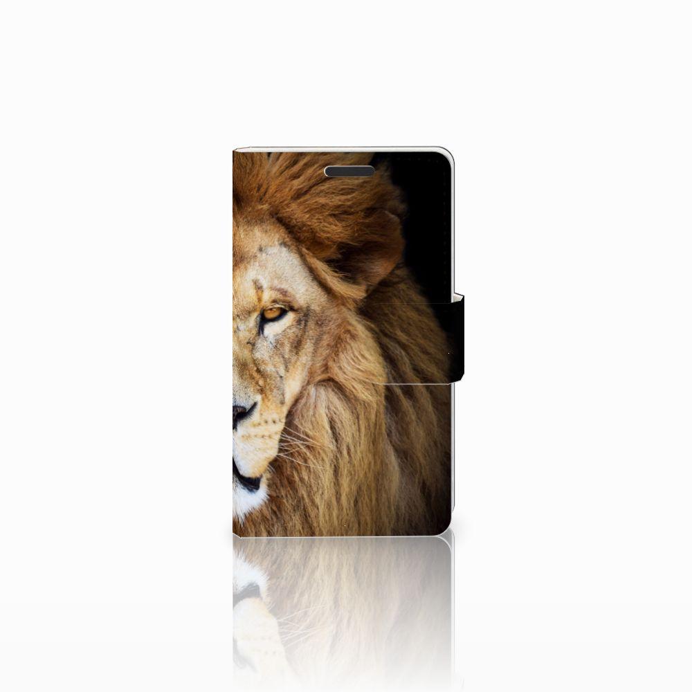 Microsoft Lumia 435 Boekhoesje Design Leeuw