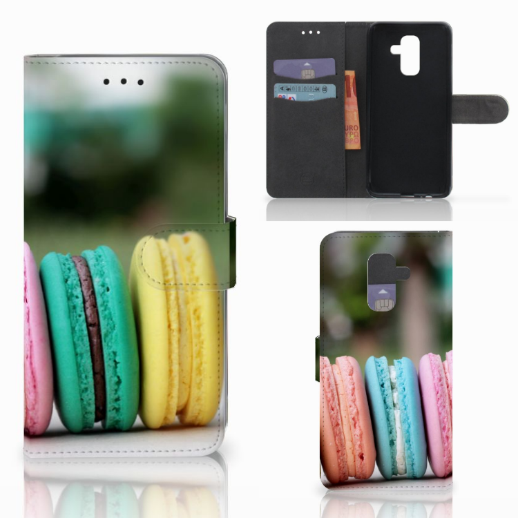 Samsung Galaxy A6 Plus 2018 Book Cover Macarons