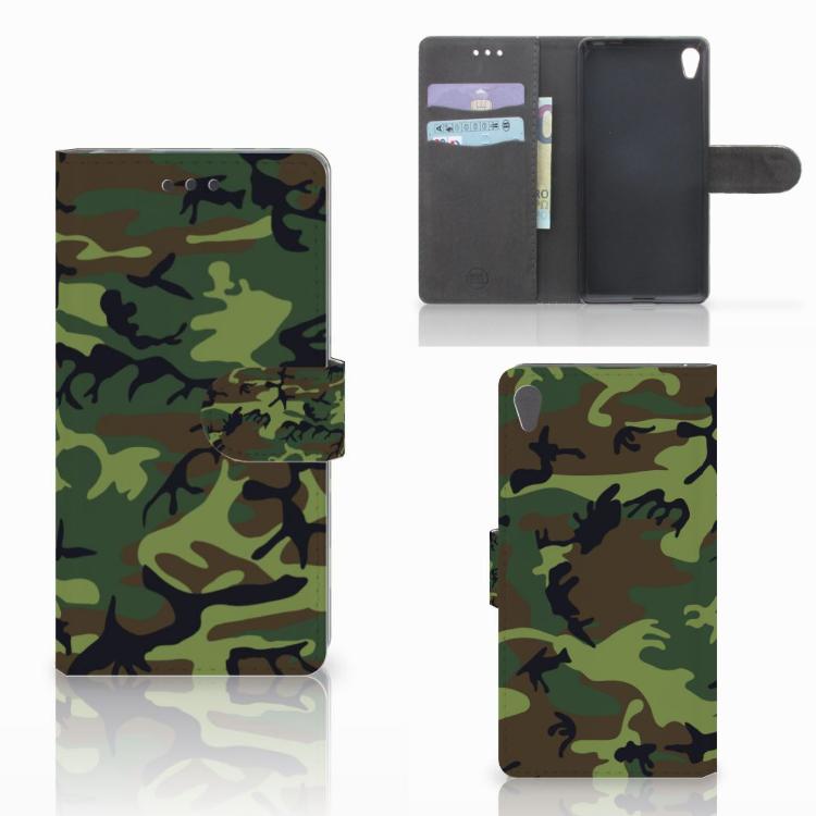 Sony Xperia E5 Telefoon Hoesje Army Dark