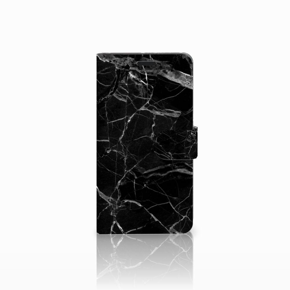 Sony Xperia T3 Uniek Boekhoesje Marmer Zwart