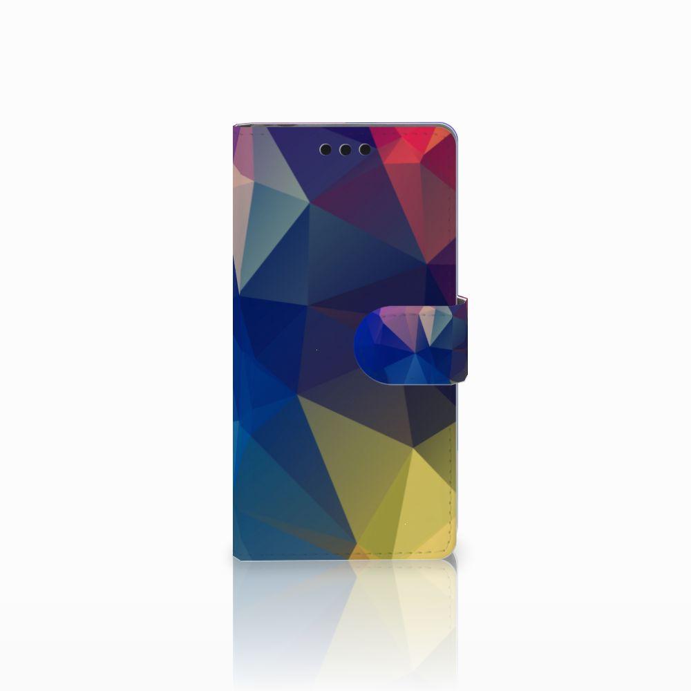 Sony Xperia M4 Aqua Uniek Boekhoesje Polygon Dark