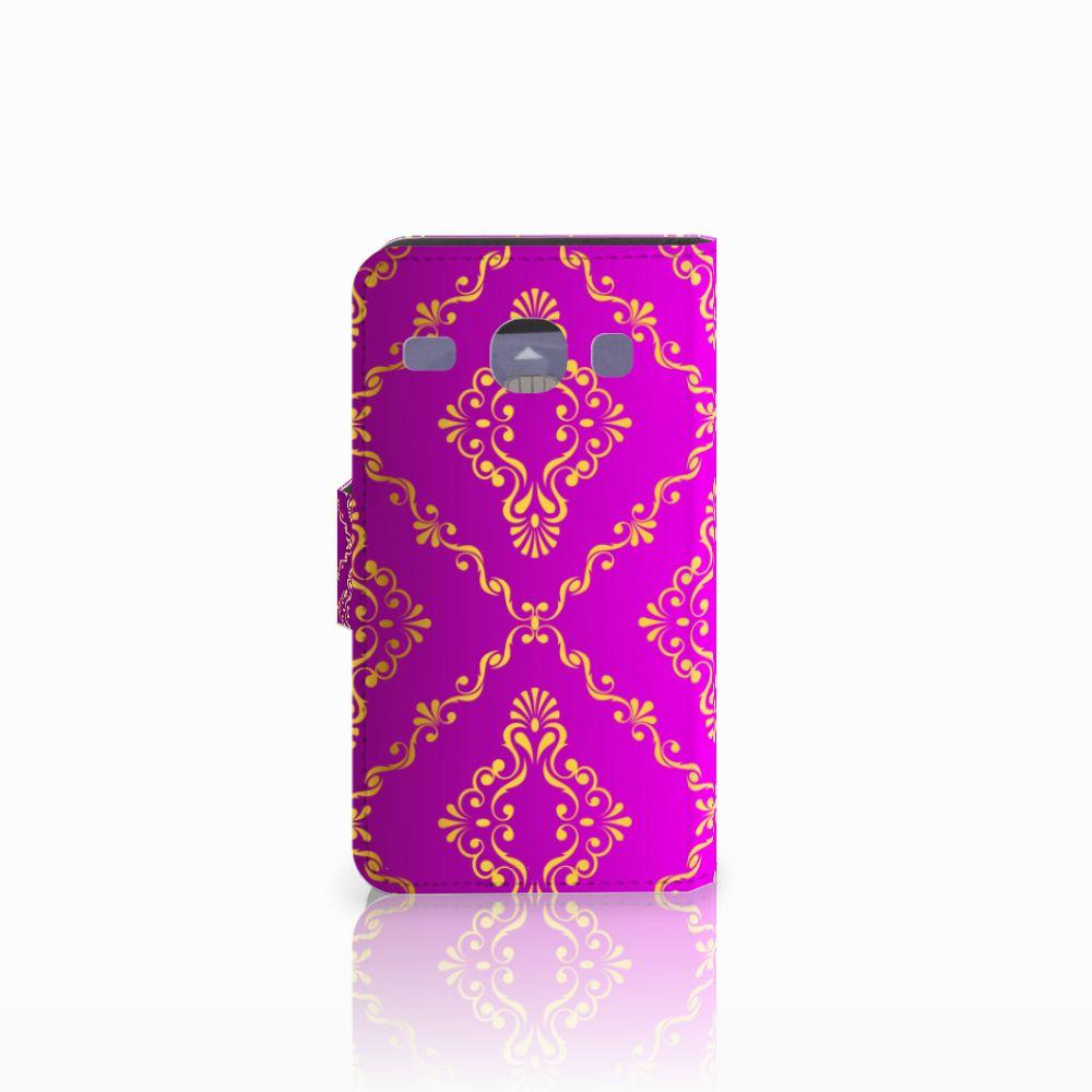 Wallet Case Samsung Galaxy Core i8260 Barok Roze