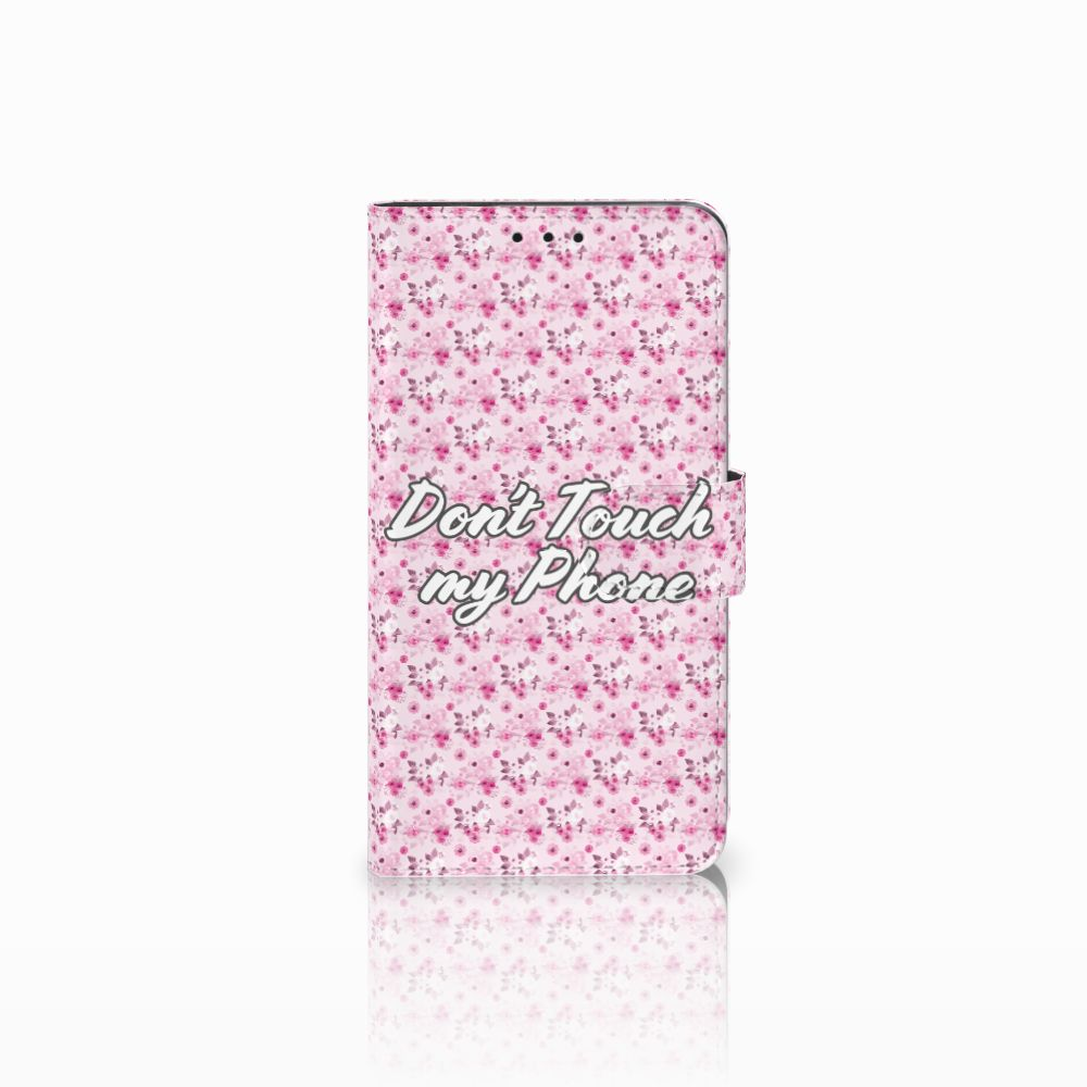 Huawei Honor 6X Uniek Boekhoesje Flowers Pink DTMP