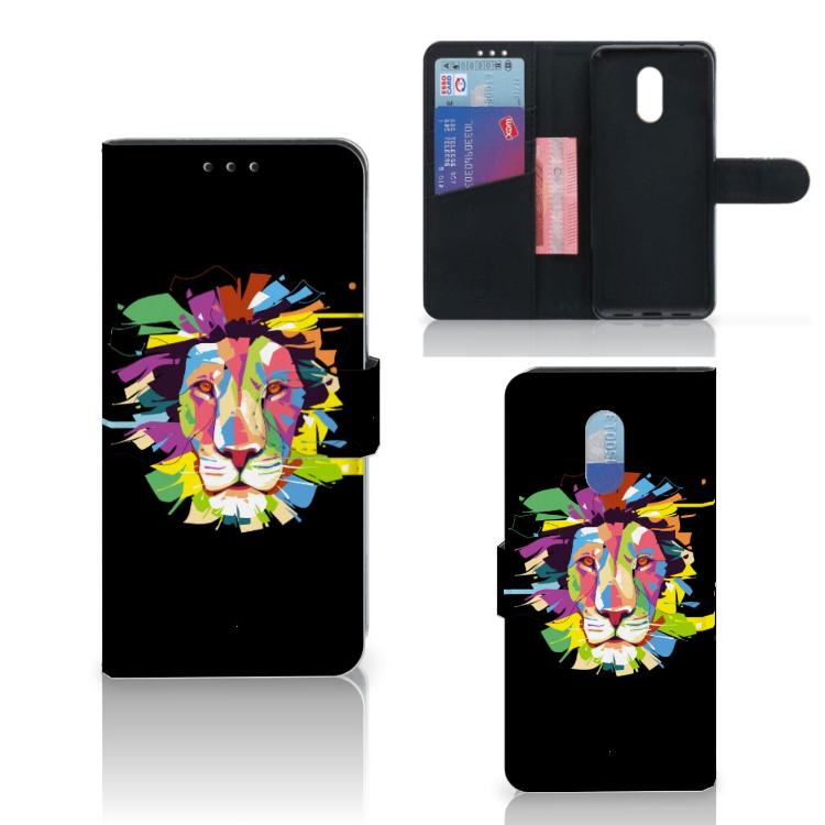 OnePlus 6T Leuk Hoesje Lion Color