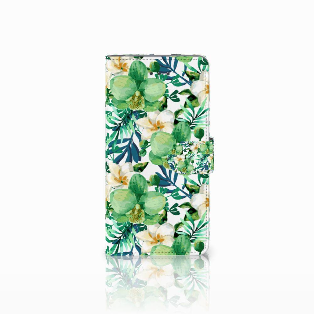 Samsung Galaxy J7 (2018) Uniek Boekhoesje Orchidee Groen