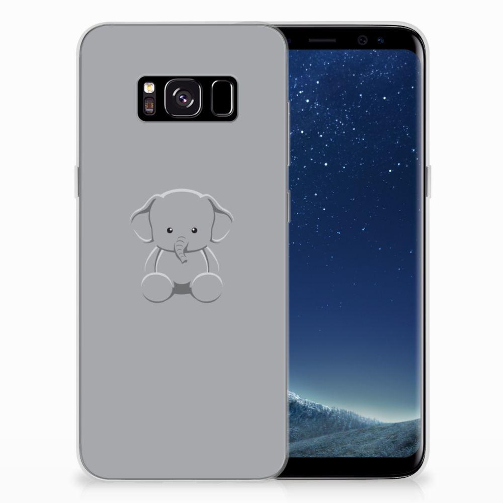 Samsung Galaxy S8 Telefoonhoesje met Naam Grijs Baby Olifant