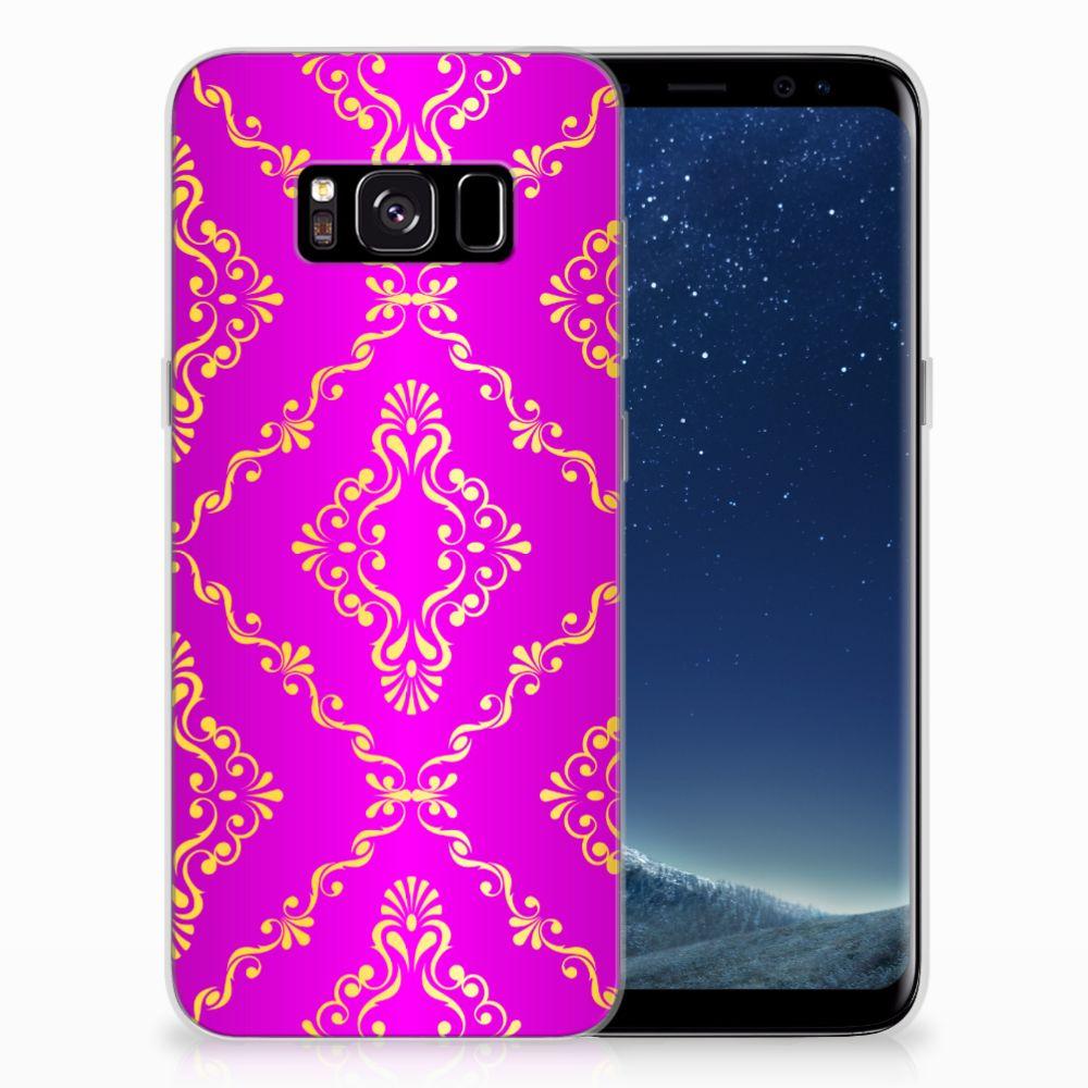 Siliconen Hoesje Samsung Galaxy S8 Barok Roze