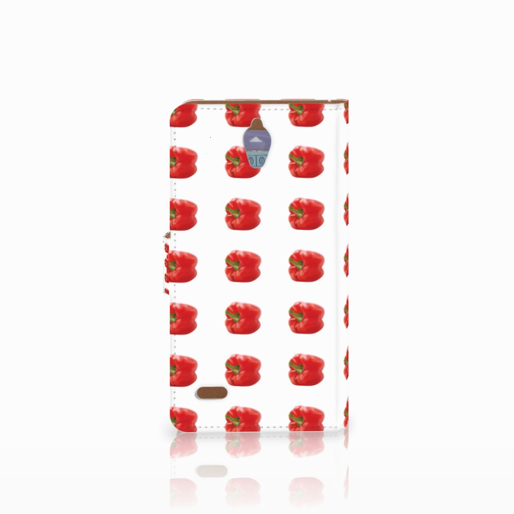 Huawei Ascend G700 Book Cover Paprika Red