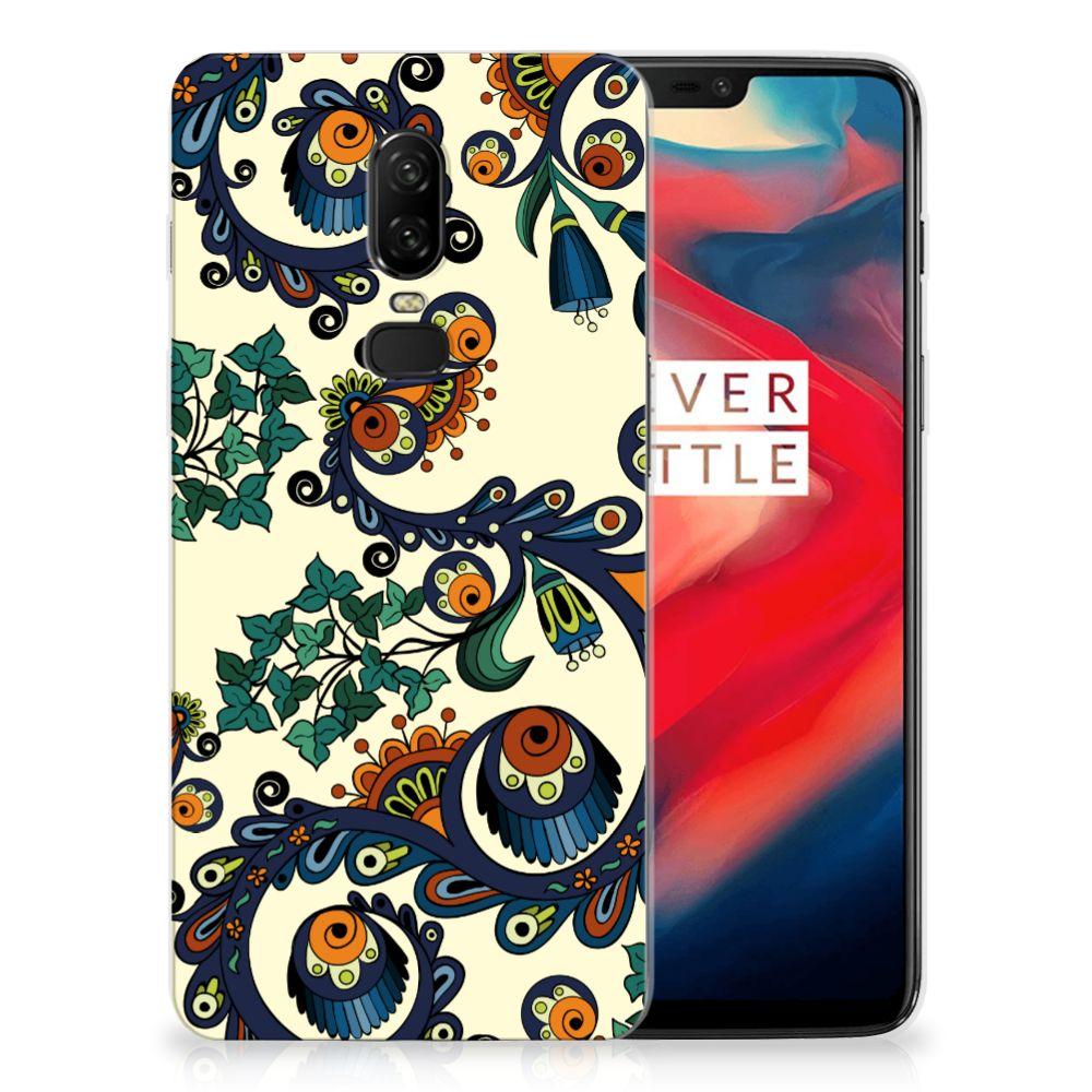 Siliconen Hoesje OnePlus 6 Barok Flower