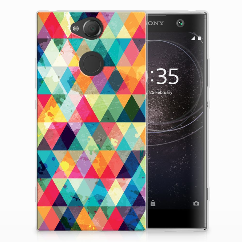 Sony Xperia XA2 Uniek TPU Hoesje Geruit