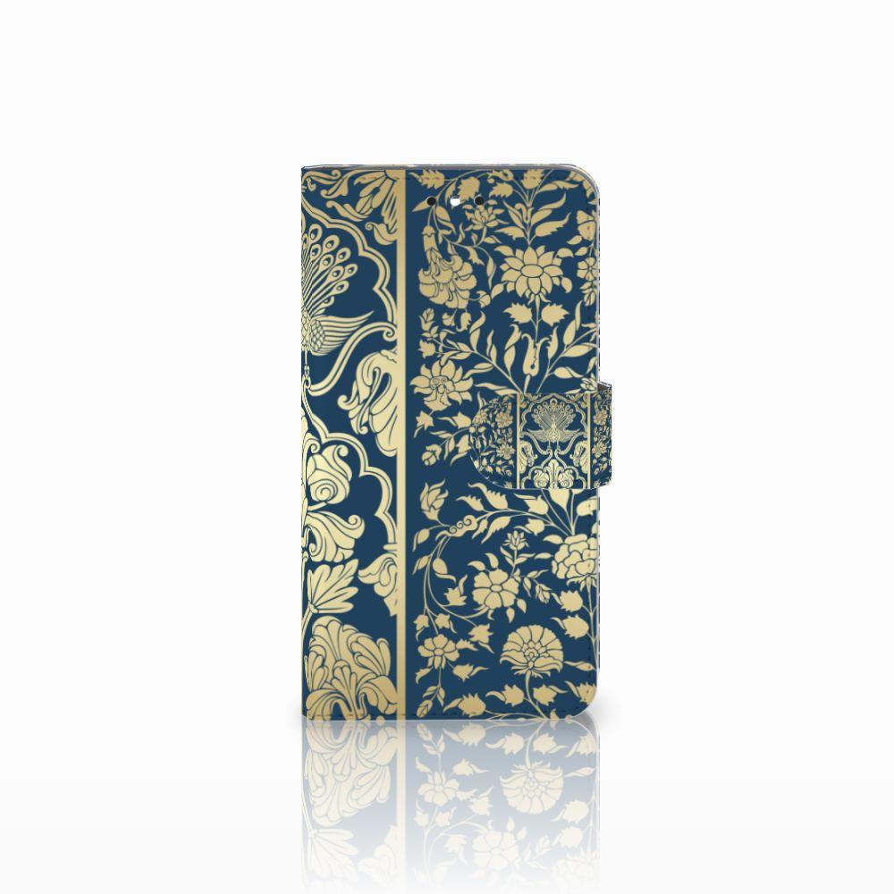 Motorola Moto G4 | G4 Plus Uniek Boekhoesje Golden Flowers