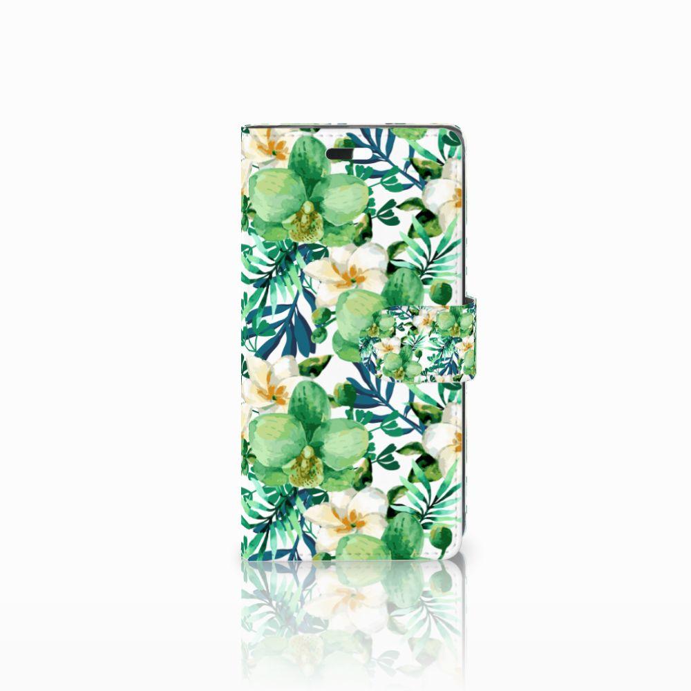 Huawei Y635 Uniek Boekhoesje Orchidee Groen