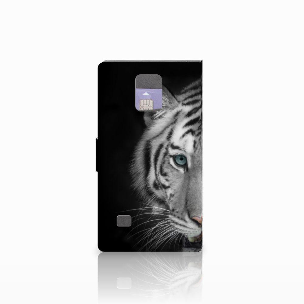 Samsung Galaxy Note 4 Telefoonhoesje met Pasjes Tijger