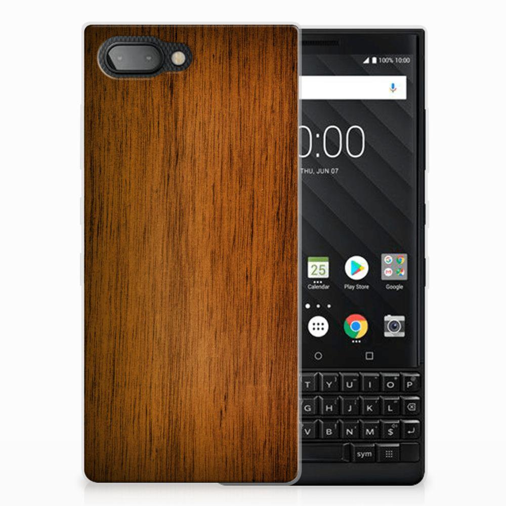 BlackBerry Key2 Bumper Hoesje Donker Hout