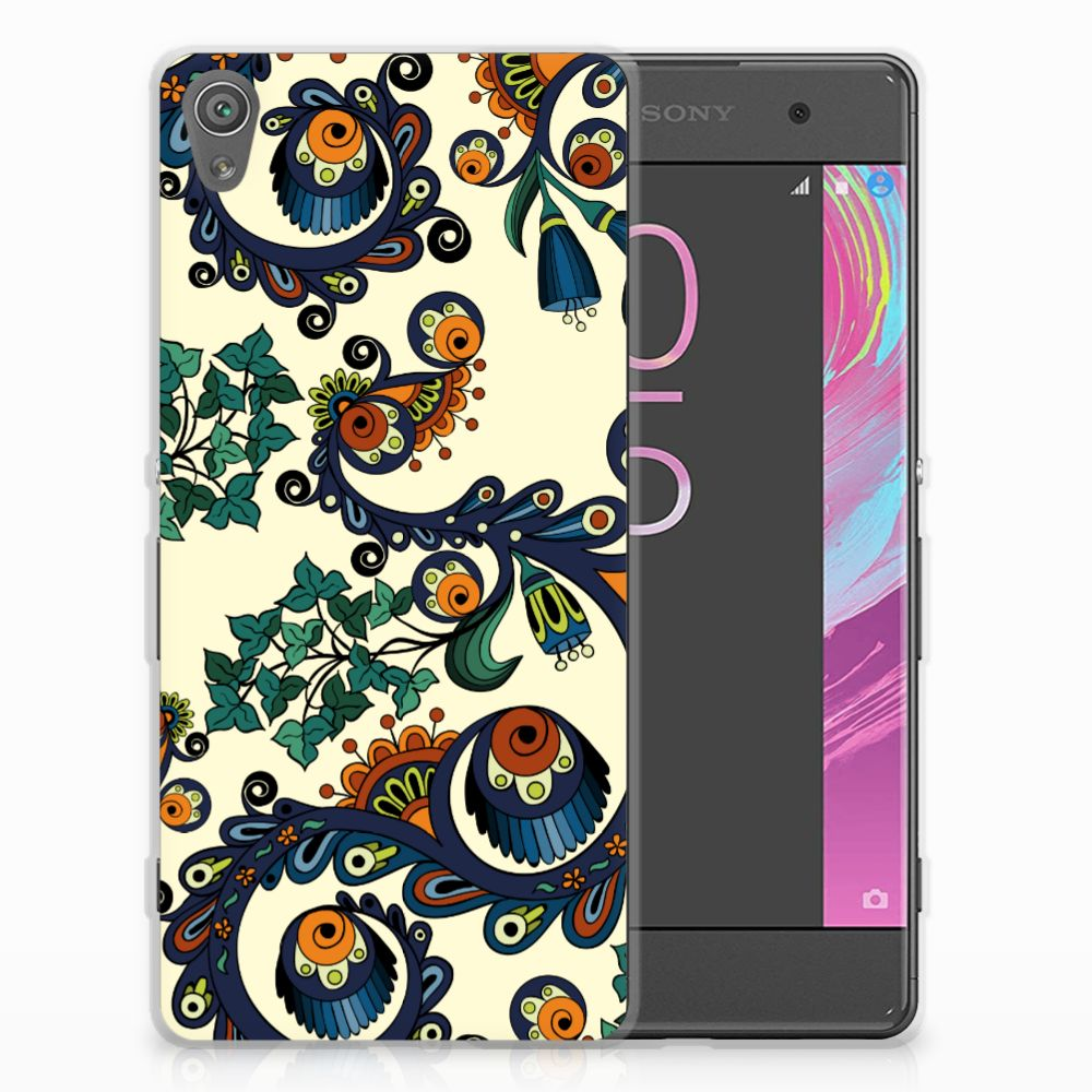 Siliconen Hoesje Sony Xperia XA | XA Dual Barok Flower