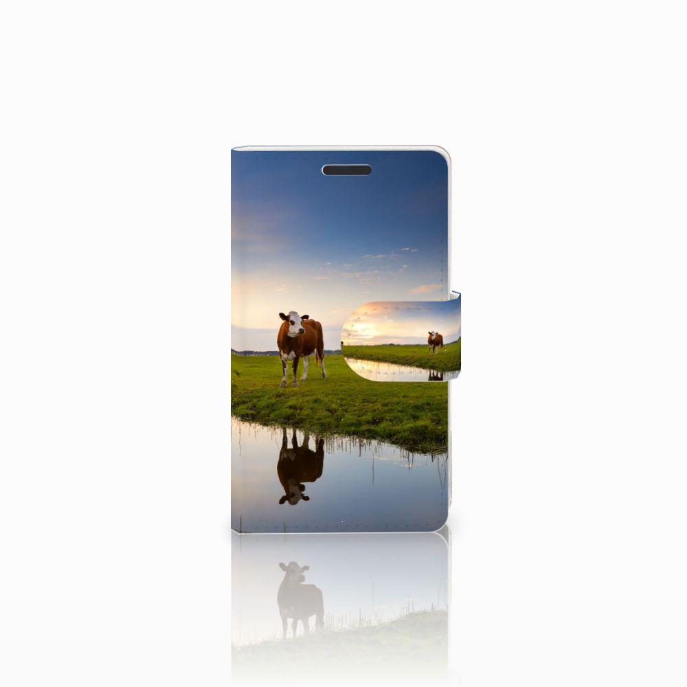 Microsoft Lumia 435 Boekhoesje Design Koe