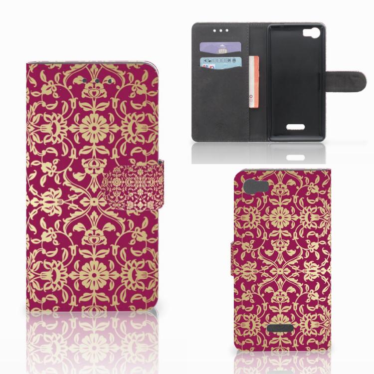 Wallet Case Wiko Fever (4G) Barok Pink