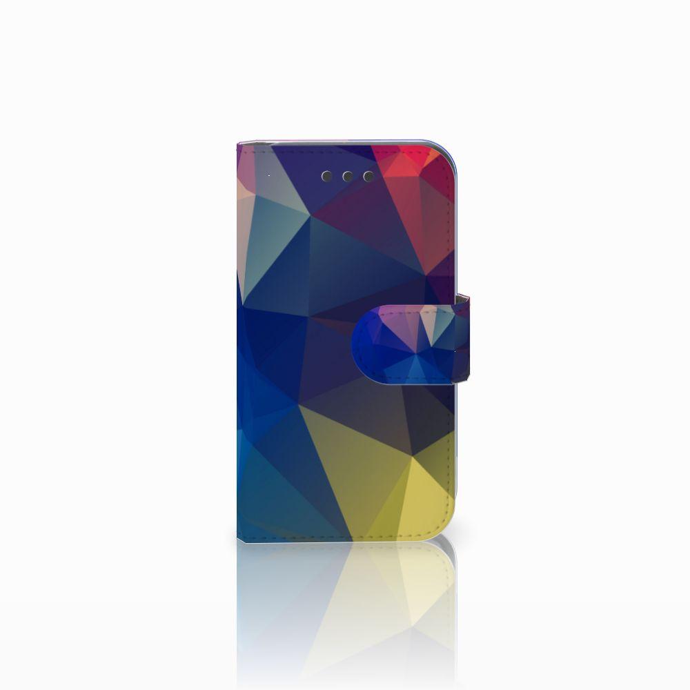 Samsung Galaxy Core 2 Uniek Boekhoesje Polygon Dark