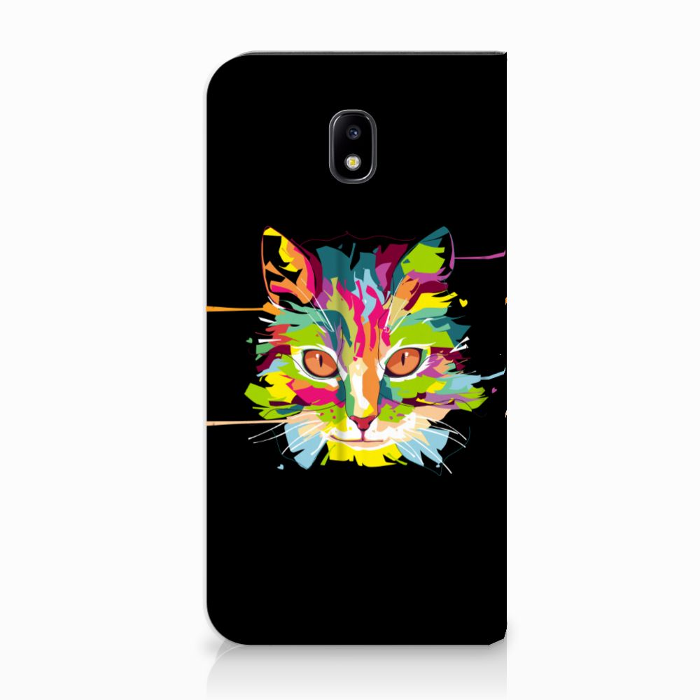 Samsung Galaxy J5 2017 Uniek Standcase Hoesje Cat Color