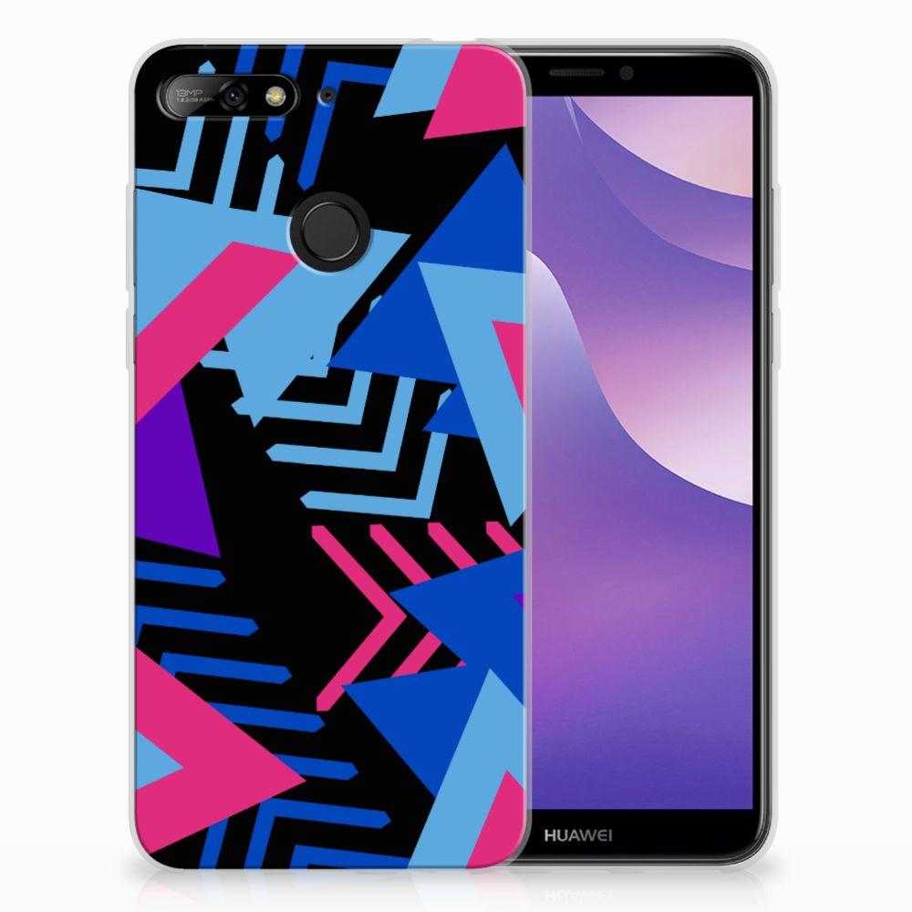 Huawei Y6 (2018) TPU Hoesje Design Funky Triangle