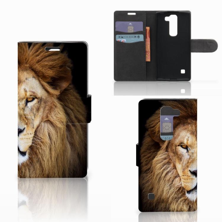 LG Spirit Telefoonhoesje met Pasjes Leeuw
