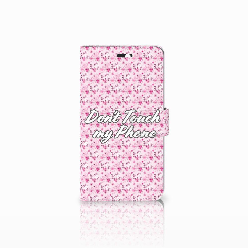 Huawei Y6 II   Honor 5A Uniek Boekhoesje Flowers Pink DTMP