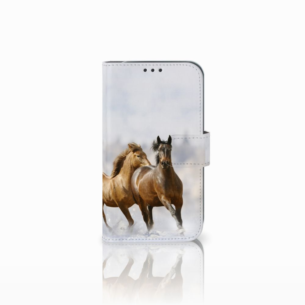 Samsung Galaxy Xcover 4 Uniek Boekhoesje Paarden