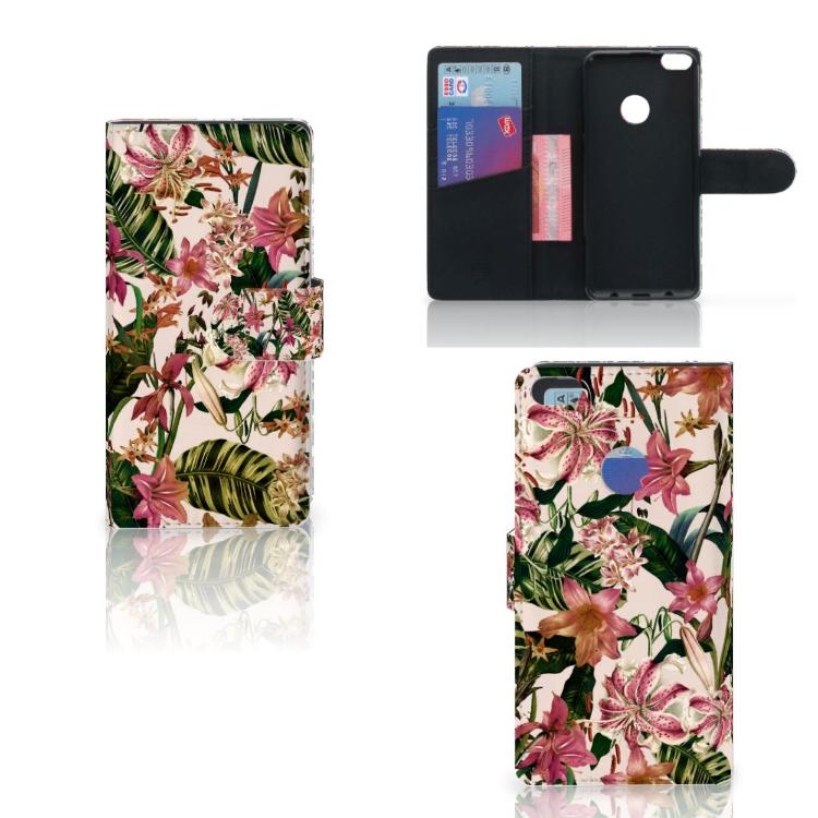 Huawei P8 Lite 2017 Hoesje Flowers