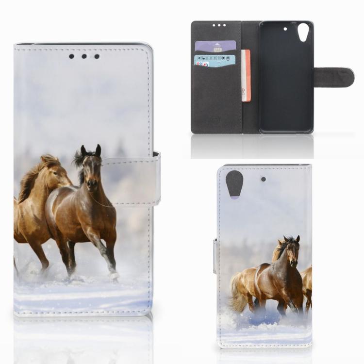 HTC Desire 626 | Desire 626s Telefoonhoesje met Pasjes Paarden
