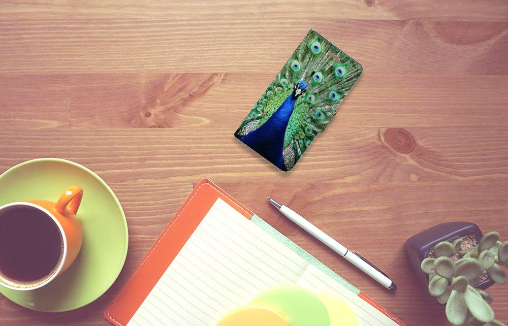Acer Liquid Z330 Telefoonhoesje met Pasjes Pauw