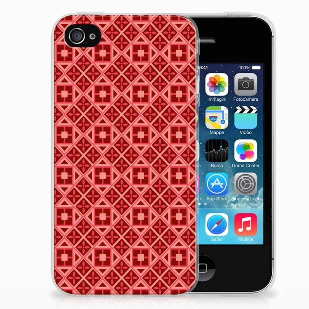 Apple iPhone 4 | 4s TPU bumper Batik Rood