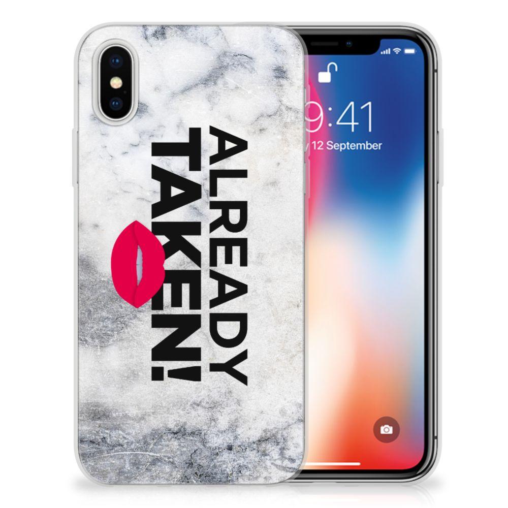 Apple iPhone X | Xs TPU Hoesje Design Already Taken White