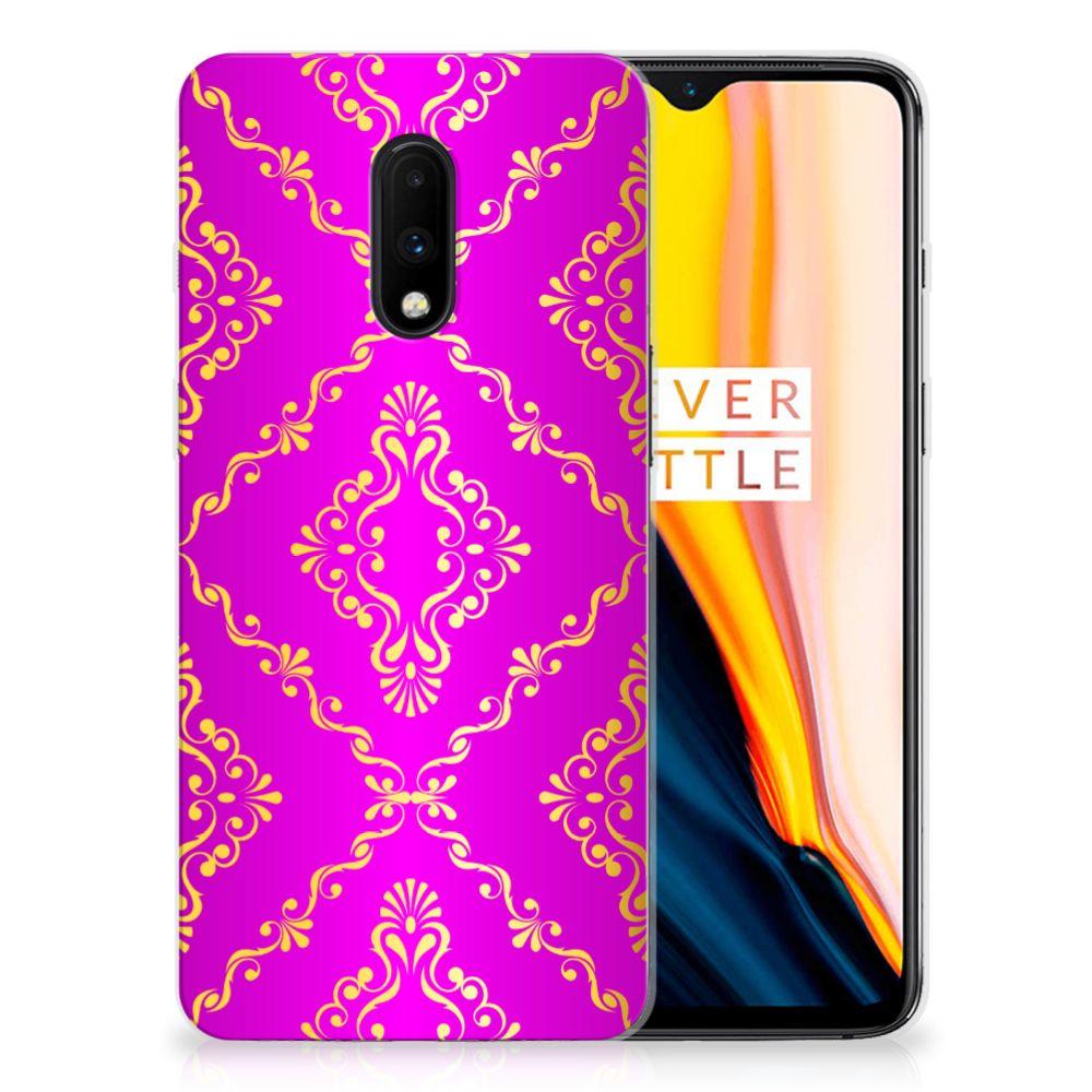 Siliconen Hoesje OnePlus 7 Barok Roze