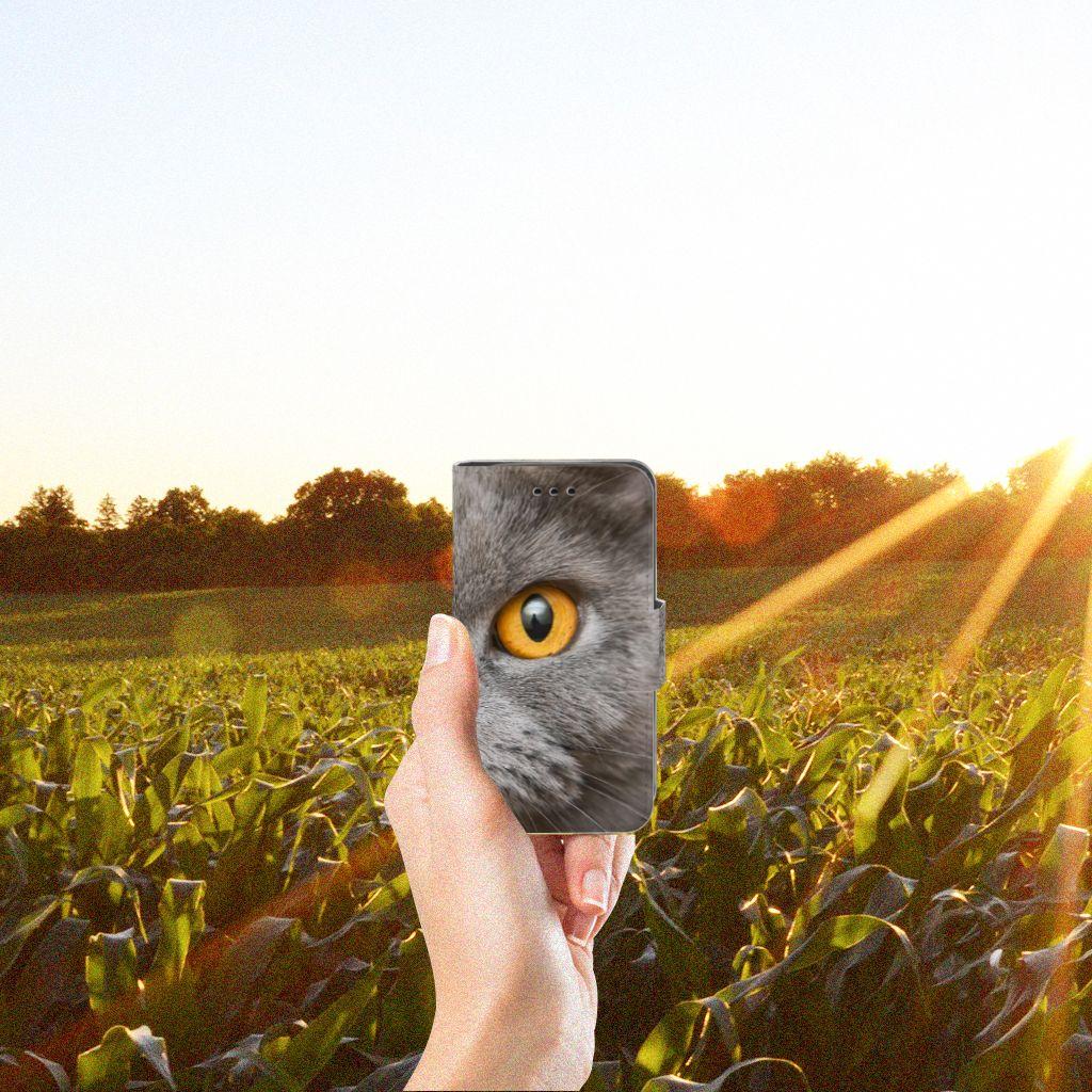 Telefoonhoesje met Pasjes Samsung Galaxy Trend 2 Britse Korthaar