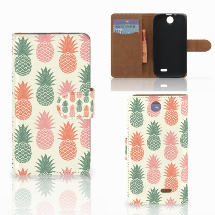 HTC Desire 310 Book Cover Ananas