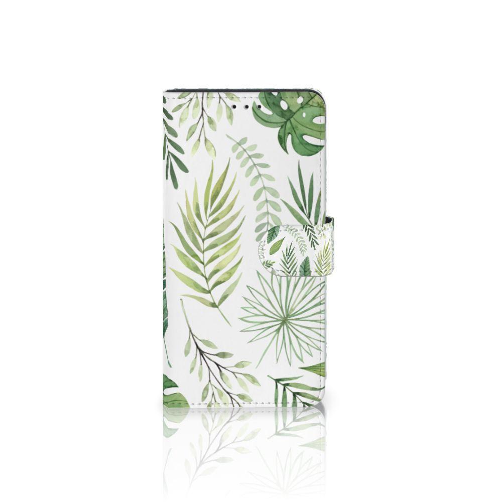 Samsung Galaxy A7 (2018) Uniek Boekhoesje Leaves