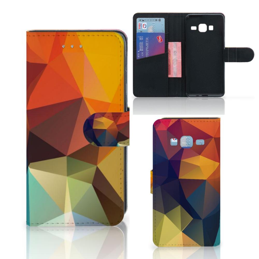 Samsung Galaxy J3 2016 Bookcase Polygon Color