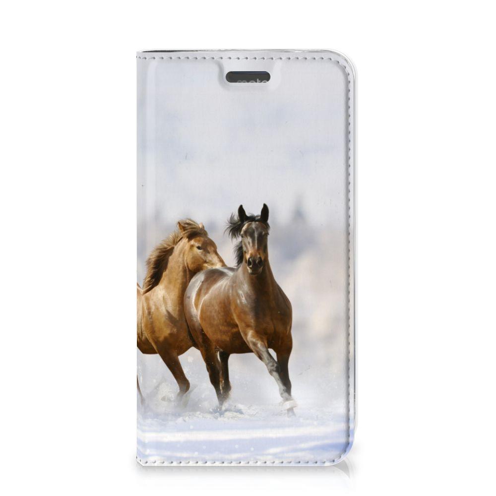 Motorola Moto C Plus Hoesje maken Paarden