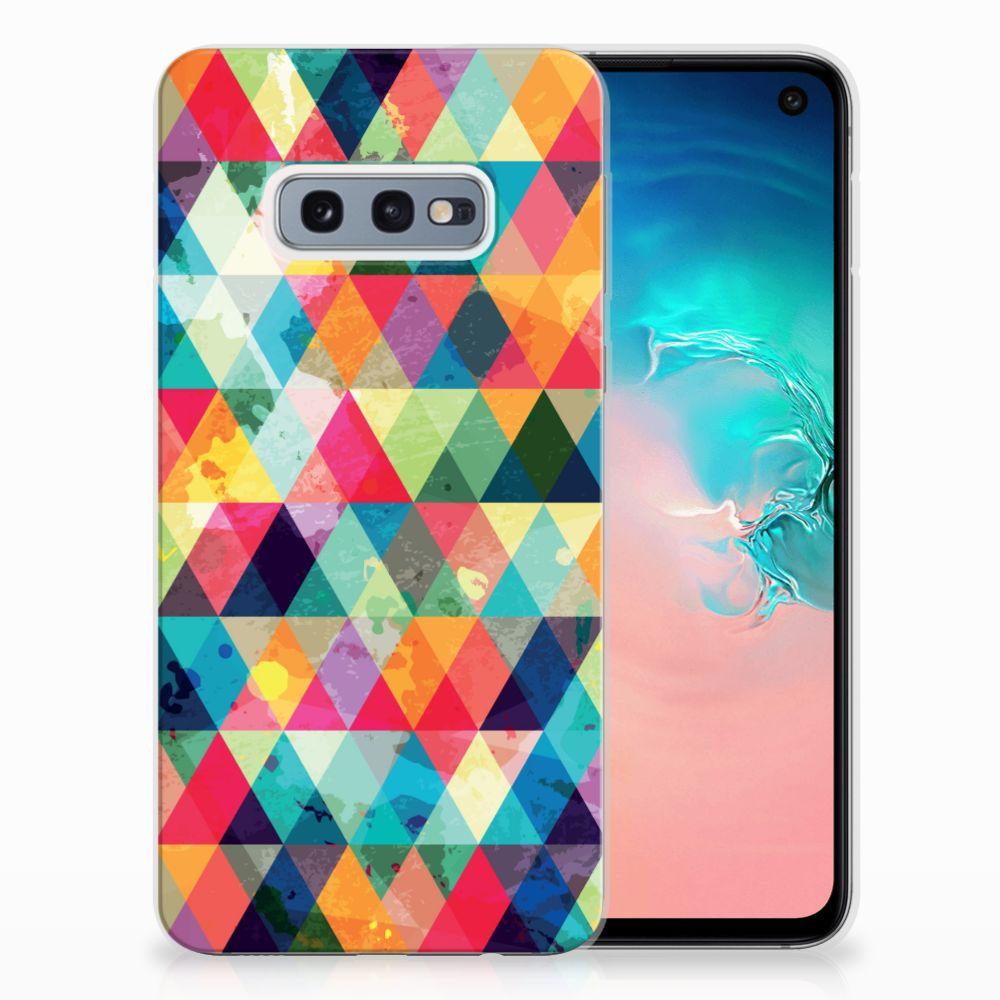 Samsung Galaxy S10e Uniek TPU Hoesje Geruit