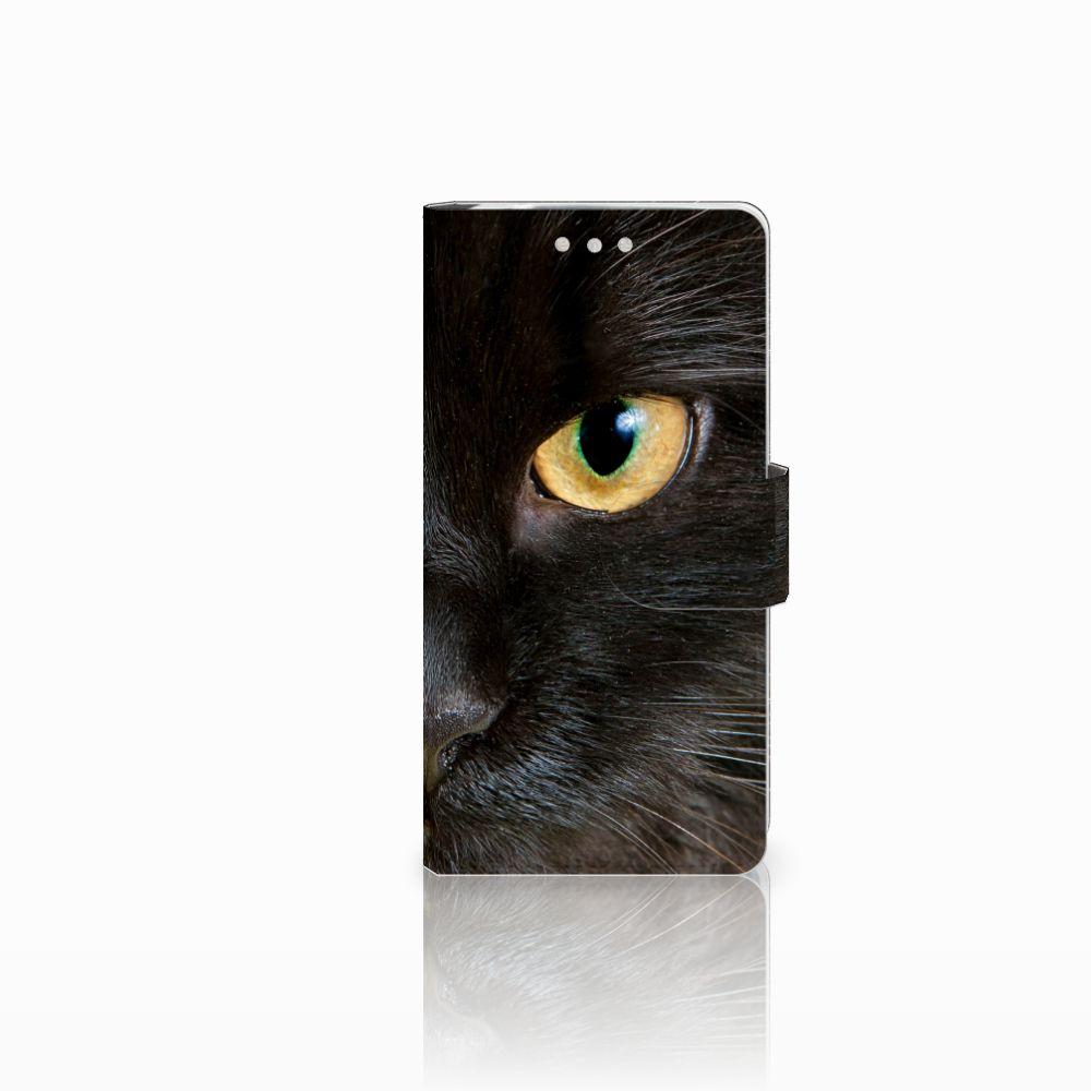 Sony Xperia XZ2 Compact Uniek Boekhoesje Zwarte Kat