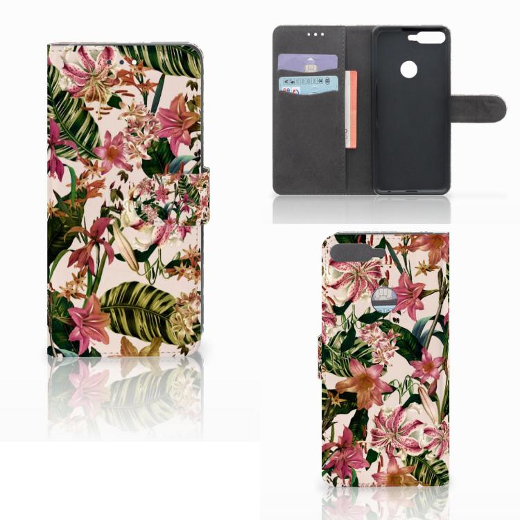 Huawei Y7 2018 Hoesje Flowers