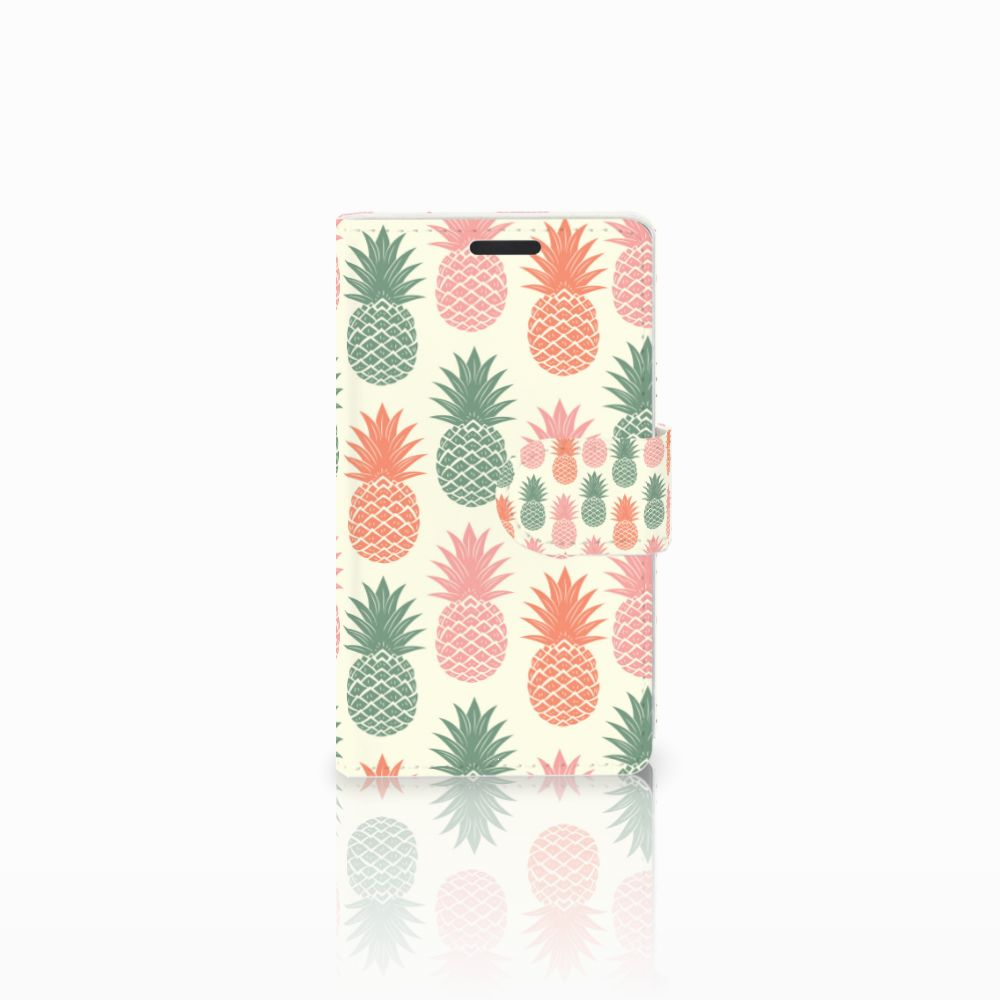Microsoft Lumia 435 Boekhoesje Design Ananas