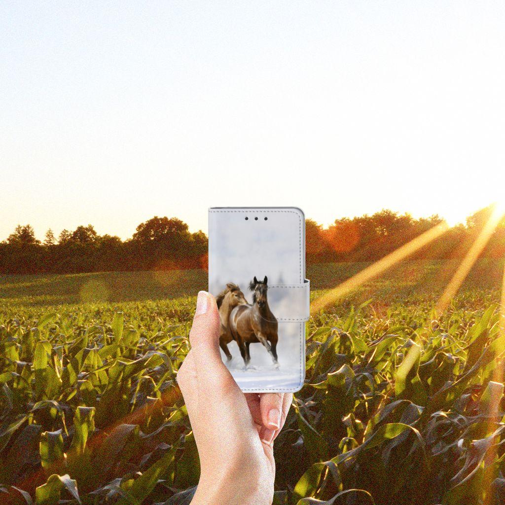 Samsung Galaxy A3 2015 Uniek Boekhoesje Paarden